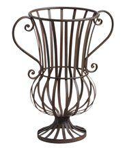 Vase décoratif en métal veilli