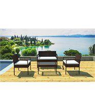 Salon de jardin canapé, fauteuils et table