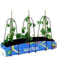 Jardinière en plastique avec supports métalliques 3 pieds