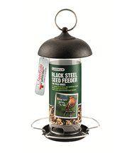 Mangeoire à oiseaux en métal noir