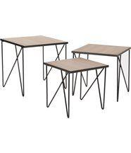 Tables gigognes en métal esprit industriel (Lot de 3)