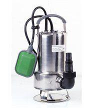 Pompe vide cave eaux chargées en inox 750w avec flotteur