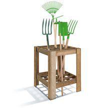 Range-outils de jardin en Bois