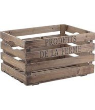 Caisse produits de la ferme en bois vieilli 40x30x22cm