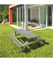 Table de pique-nique bois 6/8 places fontainebleau