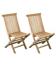 2 chaises Barcelone Teck grade A