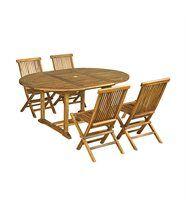Salon de jardin Baya en teck huilé 4 chaises, petit modèle