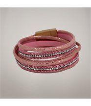 Bracelet seoul chaîne rose