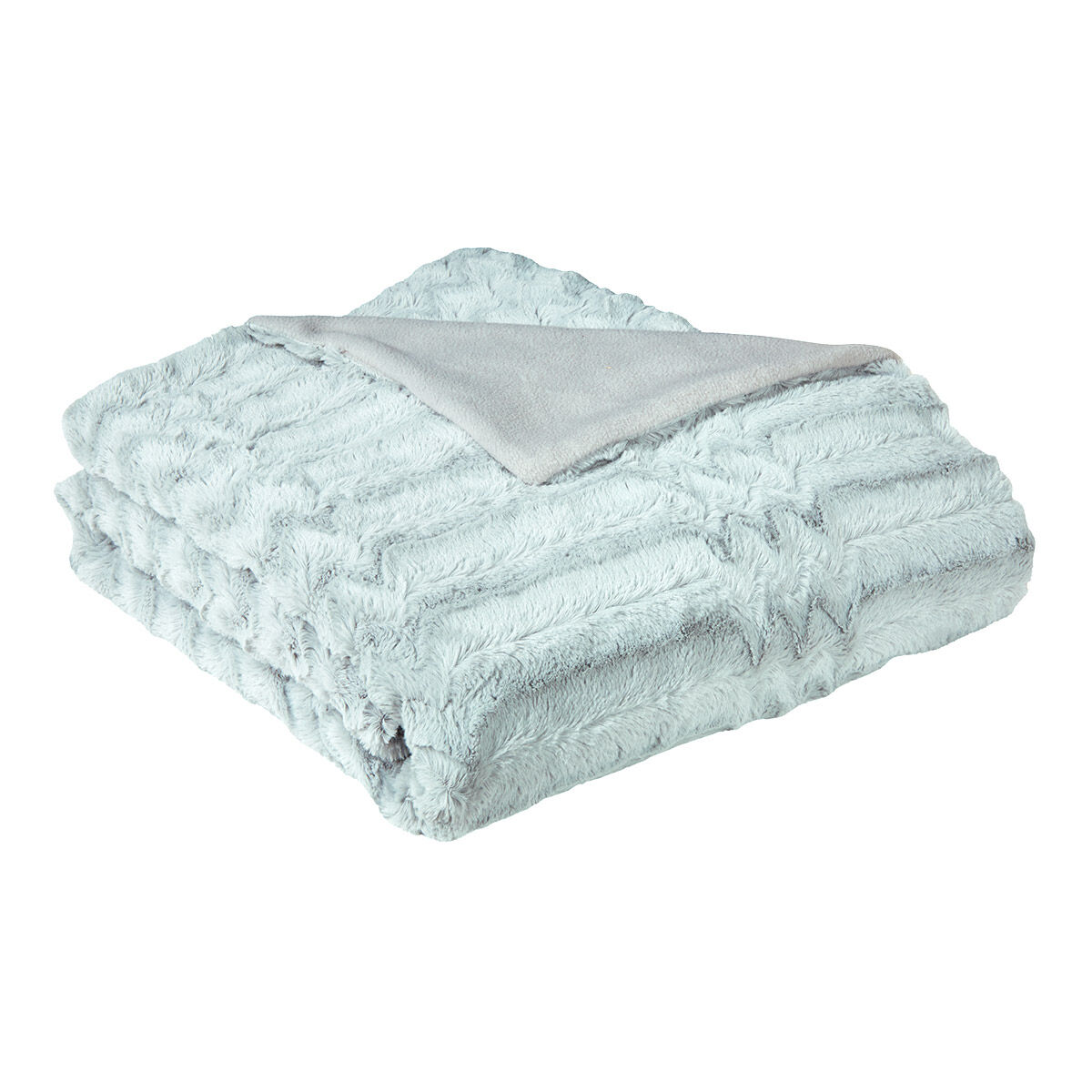 Plaid Fa On Fausse Fourrure Grizzly Gris I Fil Home