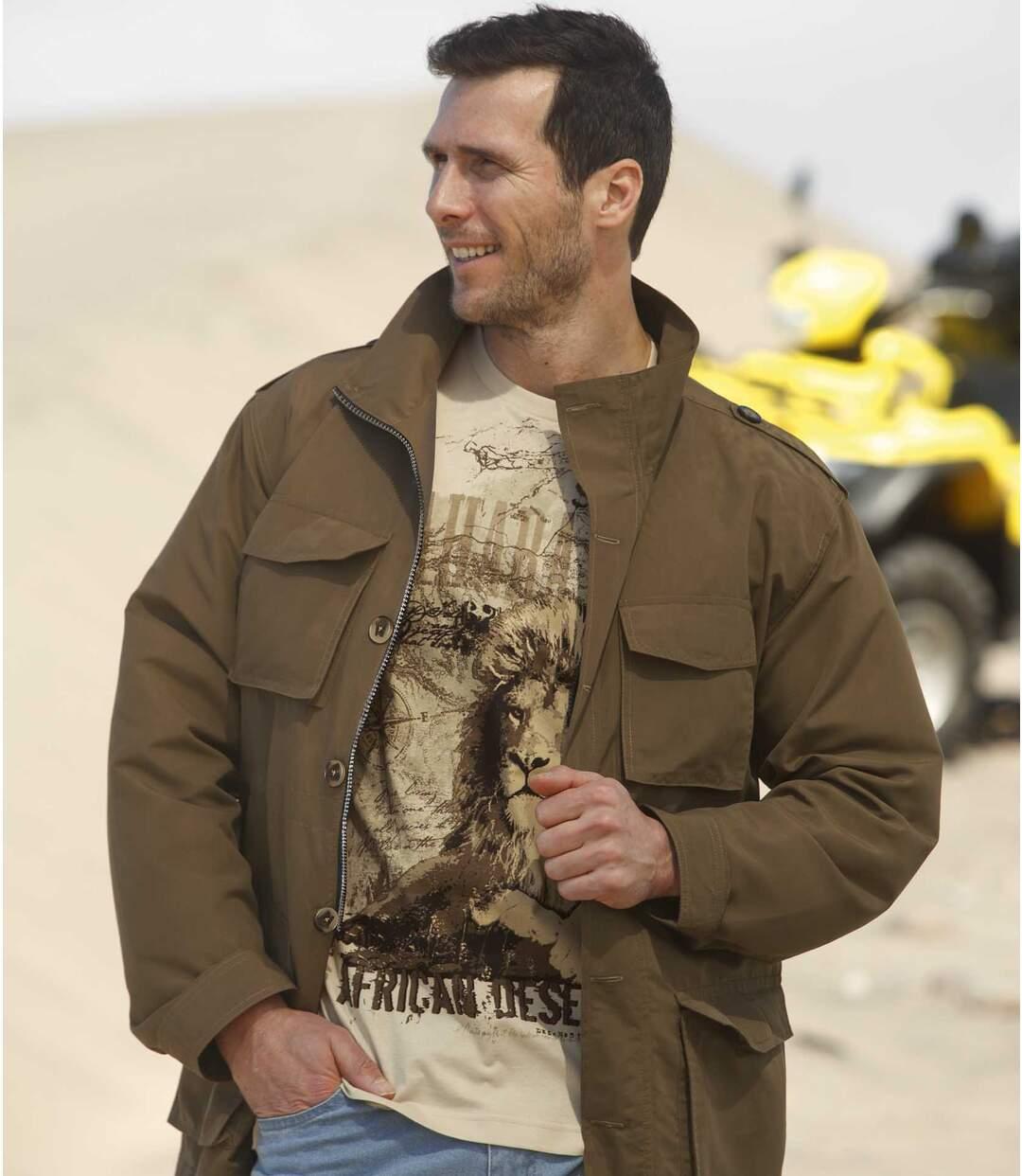 Куртка в Стиле Сафари из Микрофибры
