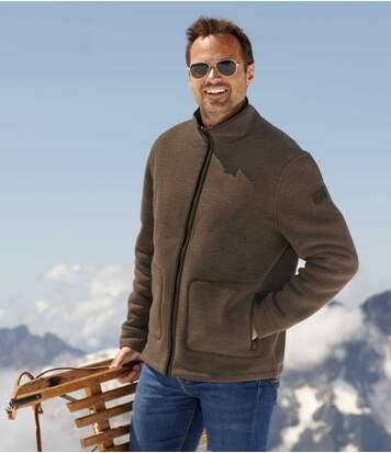 Флисовая Куртка с Подкладкой из Шерпы