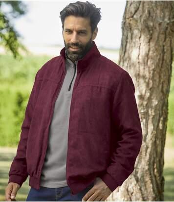 Куртка из Искусственной Замши с Флисовой Подкладкой
