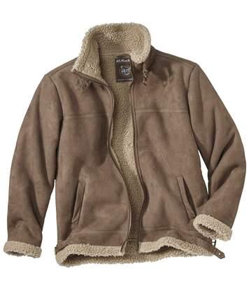 Куртка из Искусственной Замши и Шерпы