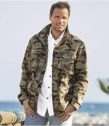 Куртка-сафари из Холщовой Ткани