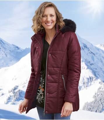 Стеганая Куртка с Утепленным Капюшоном